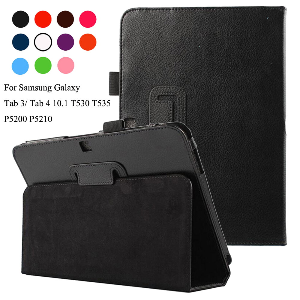 For Samsung Galaxy Tab 4 10 1 T530 T535 T531 Tab 3 10 1 P5200 P5210 P5220 Pu Leather tablet Stand Flip cover case in Tablets e Books Case from Computer Office