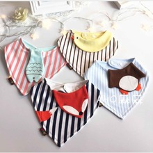 mom light 7pcs Reusable Washable Baby Bibs Cotton