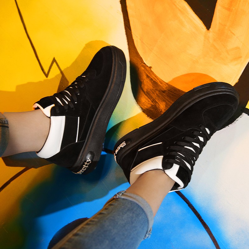 Casual Women Shoes Lace Up Breathable Platform High Top Casual Shoes KUYUPP 2016 Spring Autumn Fashion Lace Up Skate Shoes YD158 (40)