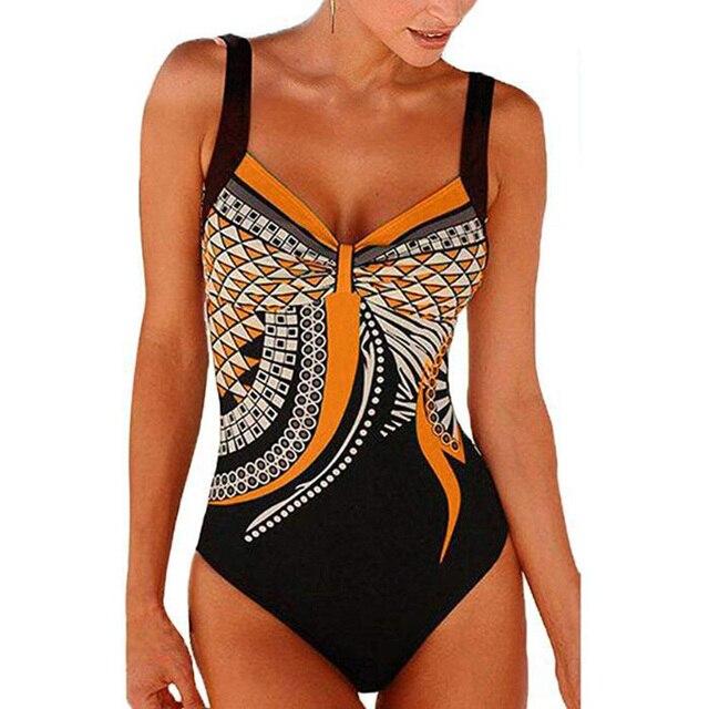 Swimwear Women 2019 One Piece Swimsuit Push Up Sexy Bathing Suit Women Swimming for Beach Wear Monokini Plus Size Swimwear 3XL 2