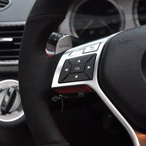 Чехол на руль из черной замши для Mercedes-Benz GLK300 GLK200 GLK260