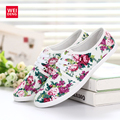 4 Colors Women Slip On Casual Canvas Shoe Fashion Breathable Espadrilles Flat Shoes 2016 New Chinoiserie Printed