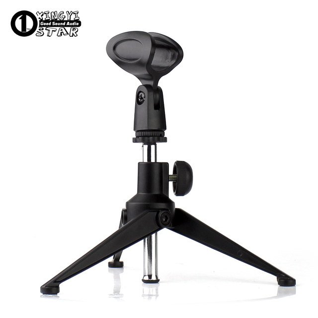Metal Adjustable Desktop Handheld Tripod Microphone Stand Boom Mic
