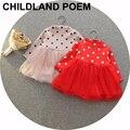 Новый Осенью ребенок dress Длинным Рукавом младенческой Baby Girl dress Симпатичные Точки Рождество Пачки детки свадьба Dress Vestidos