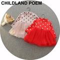 New outono baby dress manga longa infantil baby girl dress bonito dots tutu da princesa do bebê do natal wedding party dress vestidos