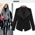 Free Shipping 2016 Women Winter Autumn Jacket Long Women Coat Slim Suit Collar Big Style Soild Woolen Coat Female Jacket