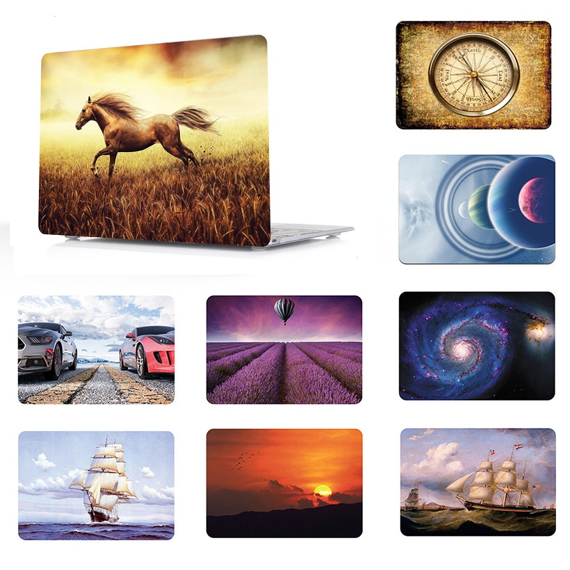 Pattern painting Laptop Shell Case Cover For Macbook Air 11 13 quot Laptop Case Cover For Pro 13 15 Retina Touch Bar 12 13 15 inch in Laptop Bags amp Cases from Computer amp Office