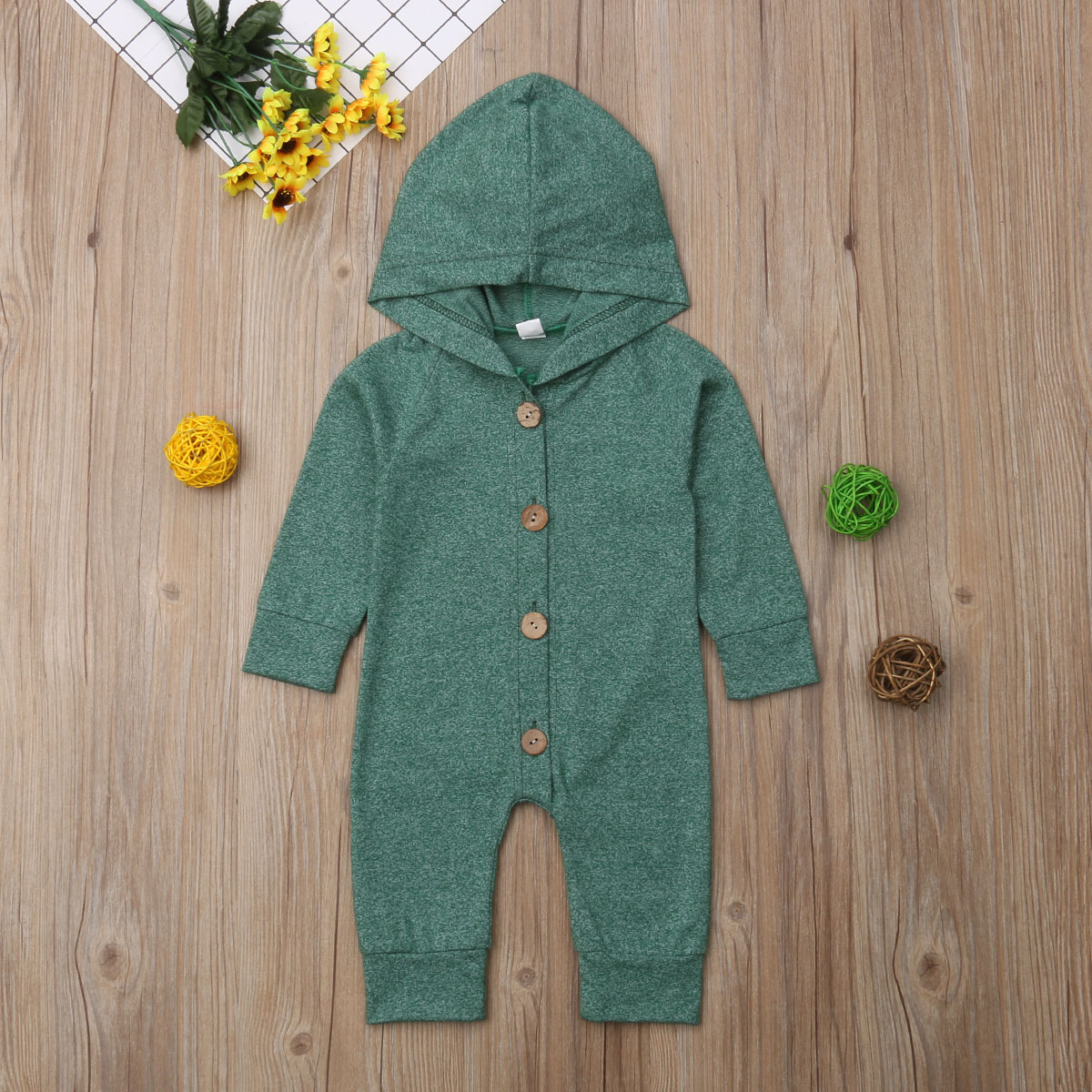 HTB1F33FMHPpK1RjSZFFq6y5PpXab 2019 Children Spring Autumn Clothing Baby Kids Boys Girls Infant Hooded Solid Romper Jumpsuit Long Sleeve Clothes Outfits 0-24M