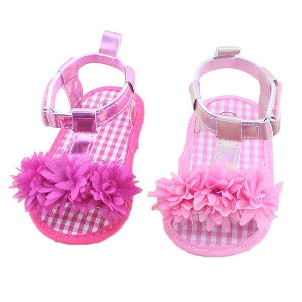 Naujas kūdikis 0-18Months Girl Floral vasaros lovelė Minkštas vienintelis slydimas Toddler Girls Princess Shoes SHM