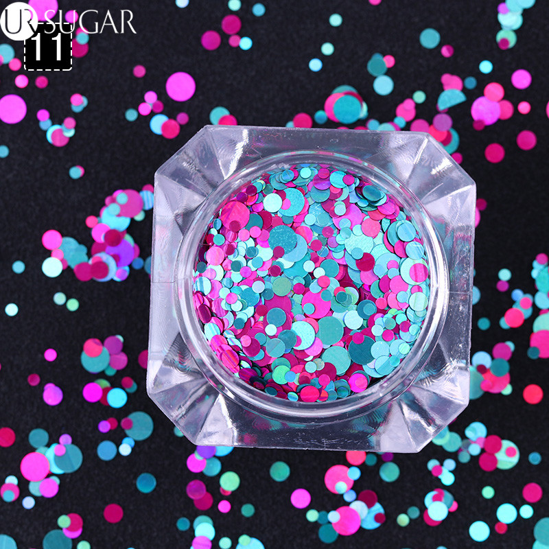 Nail Art Confetti Sequins Colorful Glitter 1mm 2mm 3mm Nail Paillette Flakies Round Shapes Nail Art Decoration 8 Colors sanda fashion watch men g style waterproof led digital sports military shock men s analog quartz wristwatch relojes hombre