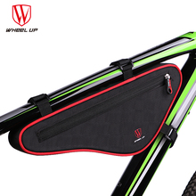 Large Capacity Reflective Bicycle Top Tube Bag Anti-deform Cycling Frame Bag Mini Outdoor Sports Bags Bike Pouch Panniers Red