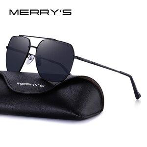 Image 2 - MERRYS Uomini di DISEGNO Classico Occhiali Da Sole Quadrati Aviation Telaio HD Occhiali Da Sole Polarizzati Per Gli Uomini di Guida UV400 Protezione S8211