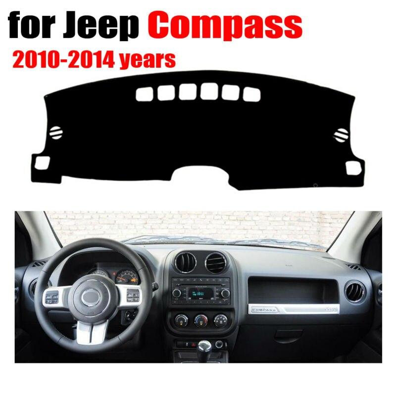 Tableau de bord de voiture couvre tapis pour Jeep Compass 2010-2014 ans conduite à Gauche dashmat pad dash couverture auto tableau de bord accessoires