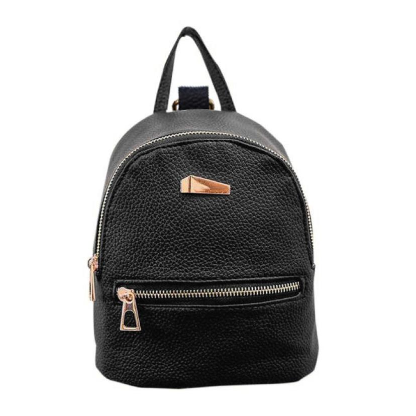 Women Girl School Bag Fashion Leather Travel Small Backpack Satchel Shoulder Rucksack Backpack For Teenage Girls Camera Bag