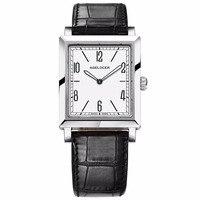 Лидирующий бренд agelocer Роскошные Для женщин Часы ультра тонкий Сталь Аналоговые кварцевые наручные часы Пояса из натуральной кожи ремень 304l