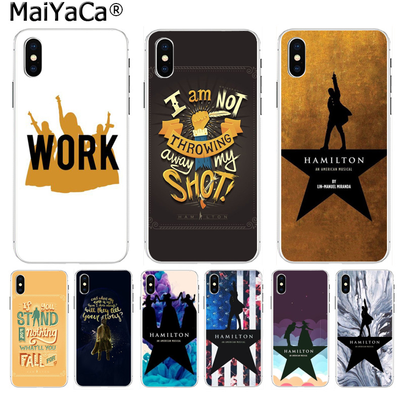 MaiYaCa Hamilton Musical Lyrics DIY Painted Beautiful Phone Accessories for iPhone 8 7 6 6S Plus X 10 5 5S SE XR XS XS MAX Cover