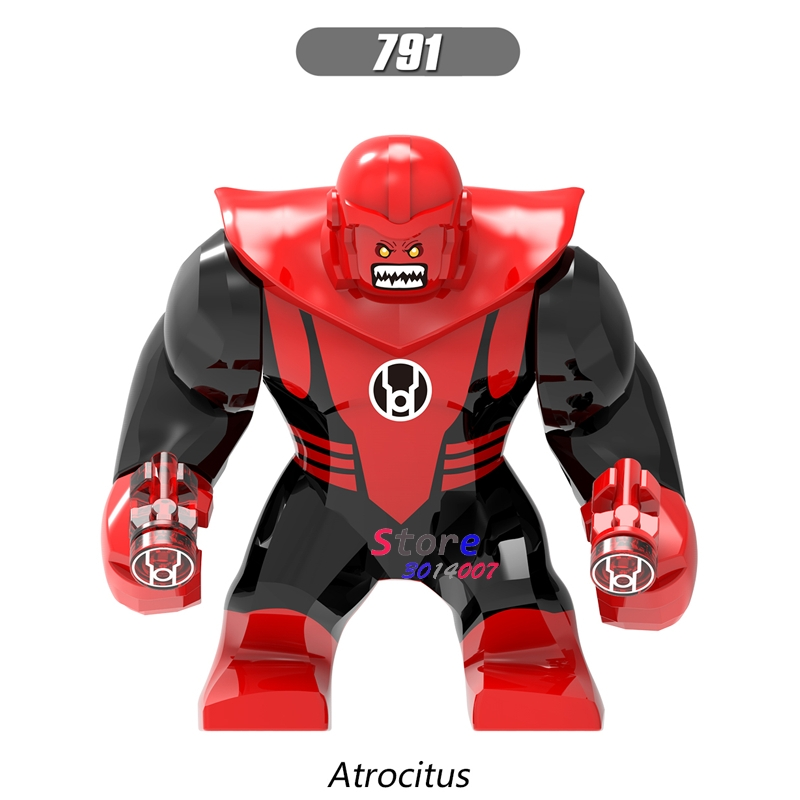 Single Sale Large Big Size Marvel Super Heroes Venom Atrocitus Atros Green Red Lantern Corps Building Blocks Toys for children single sale super heroes joker green blue purple red lantern batman catman bricks building blocks children gift toys pg8078