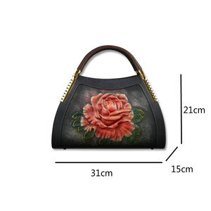 Image 5 - Johnature Genuine Leather Vintage Embossing Women Handbags 2020 New Fashion Casual Tote Cowhide Leisure Shoulder&Crossbody Bags