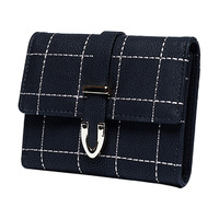 High Quality New Fashion Women Lady Girl Press Button Faux Frosted Leather Fold Clutch Purse Mini