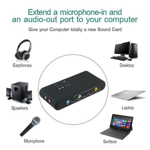 Image 4 - USB2.0 sound card add on cards Cmi 6206 Chipset USB 7.1 Sound Card with SPDIF & USB Extension Cable  remote wake up support