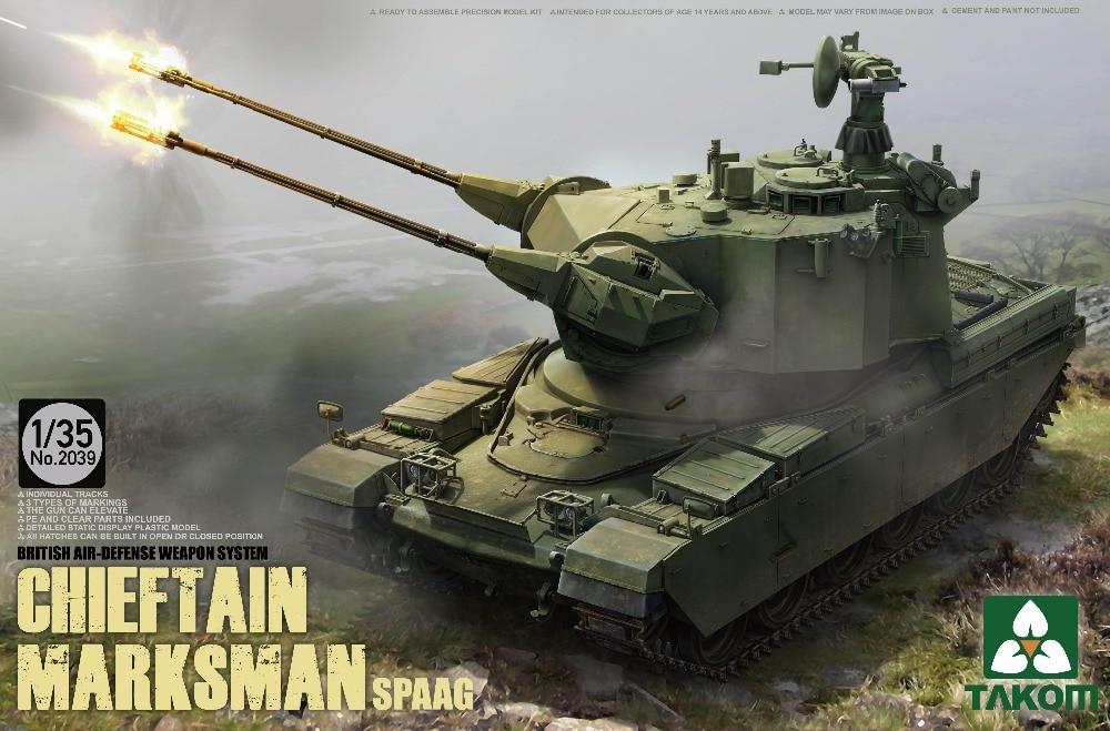 TAKOM 1/35 UK Air-Defence system Chieftain Marksman SPAAG Tank #TAK-2039 (2039)