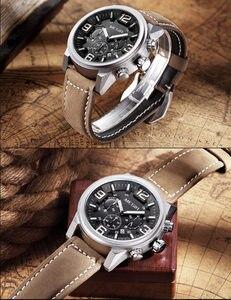 Image 4 - Megir Date Chronograph Horloge Top Luxe Merk Mens Militaire Sport Leger Klok Mannen Mannelijke Klassieke Quartz Horloges Gift Box 3010