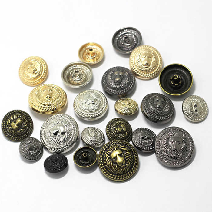 15/17/20/23/25mm 4in one Snap Buttons Fasteners Pres prong Stud  metal lion rivet for handmade Gift Craft DIY Sewing wallet Wh 1