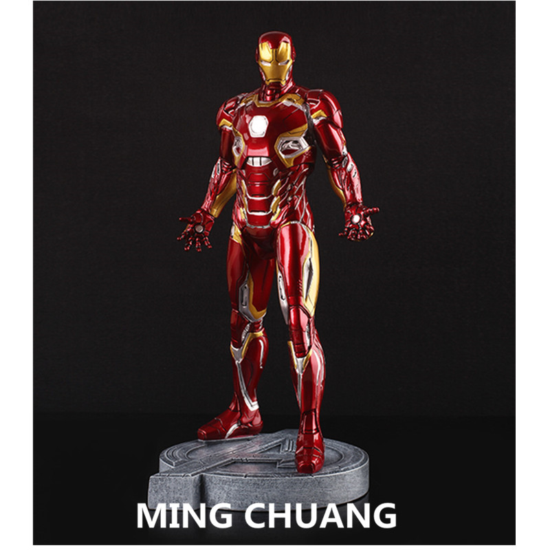 Avengers infinity war Statue Iron Man MK45 Bust 1:6 full-length portrait GK Resin Action Figure Collectible Model Toy 30 CM Q222 statue avengers superhero hulk 1 4 bust robert bruce banner full length portrait resin imitation iron collectible model toy w248