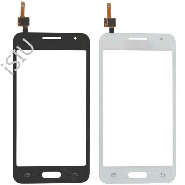 4.5 شاشة إل سي دي باللمس شاشة لسامسونج غالاكسي كور II 2 Duos SM G355H G355 G355H لمس لوحة الجبهة زجاج الهاتف أجزاء