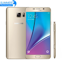 Original Samsung galaxy Note 5 Unlocked Octa Core Mobile Phone 4GB RAM 32GB ROM 5.7inch 16MP refurbished Smartphone