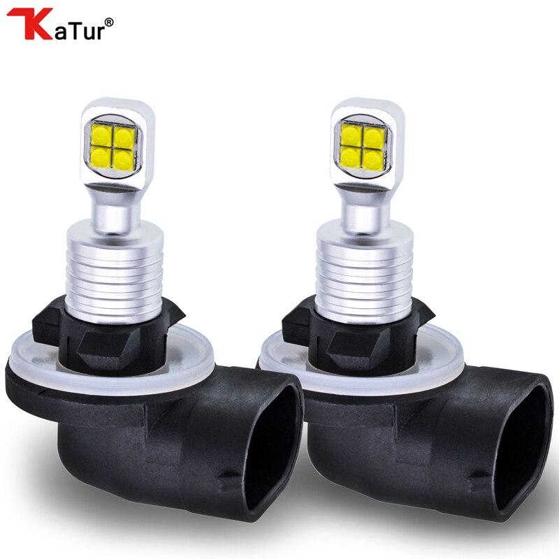 2pcs 1500 Lumens CREELED 40w H27 881 LED Car Fog Light DRL Bulbs Day Running Light White Waterproof IP68 H27W/2 Led Car Light