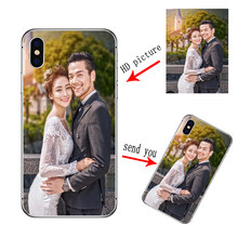 Personalized Customized DIY Soft Silicon TPU Case For iphone XS Max XR X 8 7 6 6S Plus 5 For iphone 11 Pro Max 2019 Custom Cover(China)