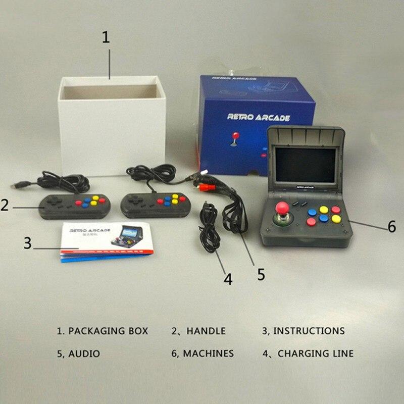 4.3 \ \ 'rétro Console de jeu de poche construit en 3000 Console de jeux vidéo de poche pour NEOGEO Aracade PSP FC Support TF carte S7