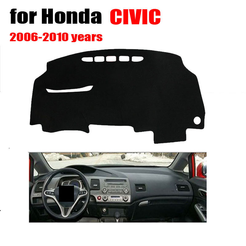 Car Dashboard Cover | Car Dashboard Cover For Honda Civic 2006 2010 Avoid Light Pad Instrument Platform Desk Pad
