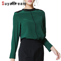 Woman Silk Blouse Solid Long Sleeved Blouses PLUS SIZE 100 Real Silk Chiffon Shirt Blusas Femininas
