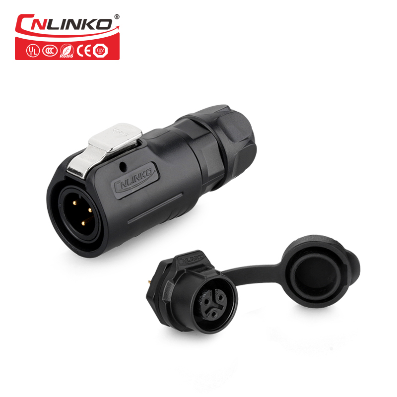 High Performance Enginner Plastic M12 3 Core Stable and Secure Plugs Sockets Electrical Cable Socket for Industrial Device