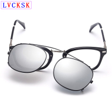 Unisex Polarized Clip On Sunglasses Near-Sighted Lens Anti-UVA Anti-UVB Fashion Sport Sunglasses Folder Stainless Steel Frame A3