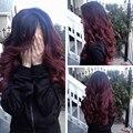 T1B/33 1B/99J Бордовый Волосы Ombre Бразильские Волосы Объемной Волны 3 пучки 7А Бразильский Объемной Волны Человеческих Волос Weave Ombre Волос пучки