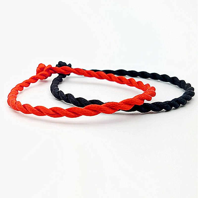 1 Cái Đỏ Đen Dây Quấn Vòng Tay Thời Trang Màu Đỏ May Mắn Đen Dây Thừng Handmade Kiểu Lắc Tay Dành Cho Nữ Tình Nhân Xây Dựng