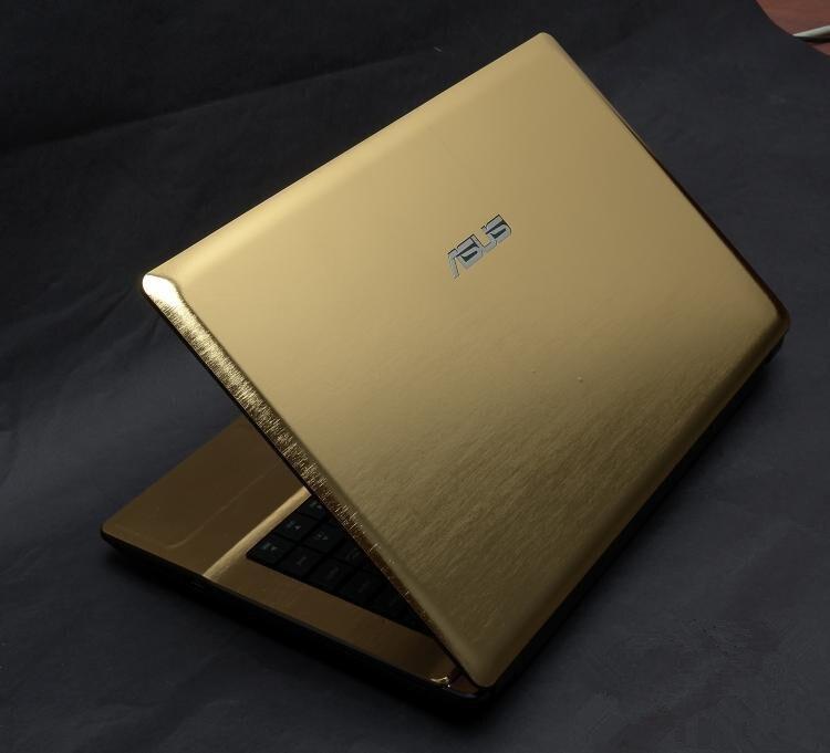 Ноутбук углеродного волокна виниловая кожа наклейка крышка для ASUS G73 G73JW G73JH G73SW 17,3-дюймов - Цвет: Gold brushed