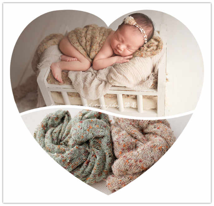 Baby Infant Photography Props Blanket Wraps Stretch Dot Knit Wrap Newborn Photo Wraps Cloth Accessories