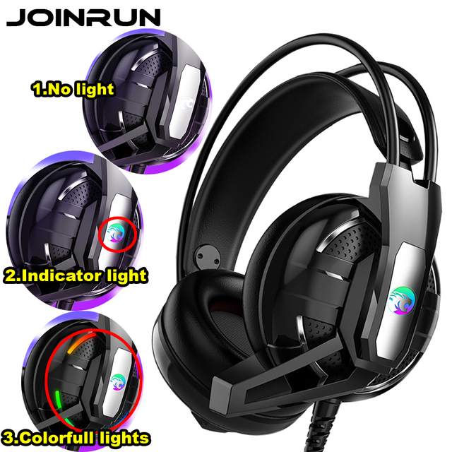 US $11 01 |Joinrun Gaming Headphone Stereo Earphones Headset Earphones with  Microphone for PC Mobile Phone Game Internet cafe -in Bluetooth Earphones