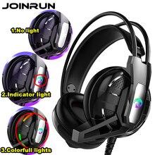 Joinrun 게임용 헤드폰 스테레오 이어폰 헤드셋 이어폰 (pc 용 마이크 포함) 휴대 전화 게임 인터넷 카페