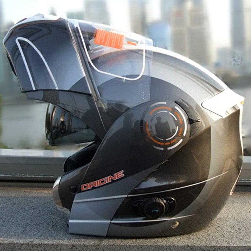 Origine flip up motorcycle helmet Built-in bluetooth intercom full face dual shield sun-visor helmet ECE approved