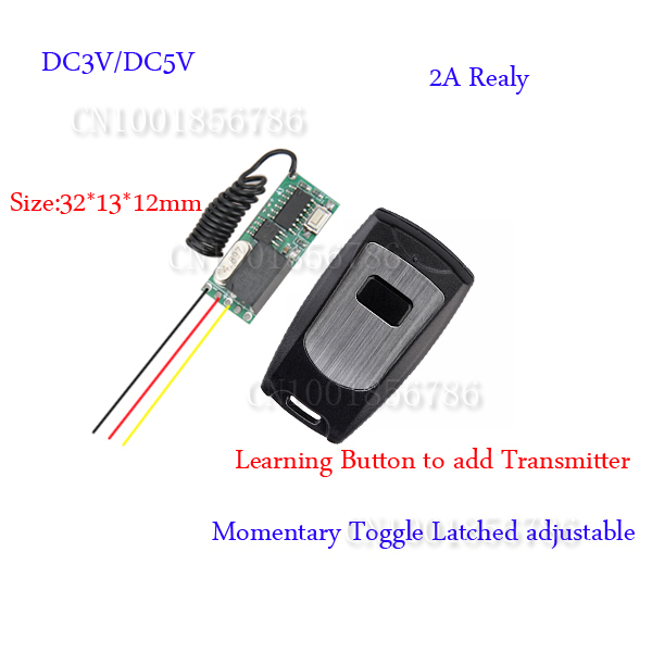 Digital Radio Remote Control Switch Mini Size DC5V Transmitter Receiver System Normally Open Comon Normally Close Learning Code niorfnio portable 0 6w fm transmitter mp3 broadcast radio transmitter for car meeting tour guide y4409b