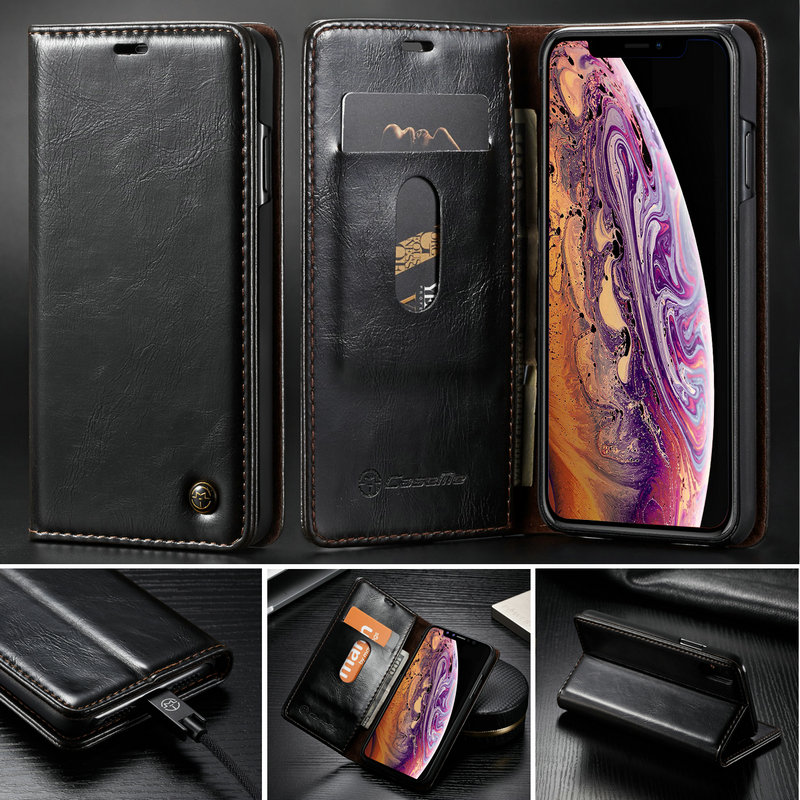 new york 7ad74 ba83e Wallet Case For iPhone Xs Xs Max Ultra thin Luxury Magnetic Credit Card  Stand For iPhone Xr Wallet Smooth Leather Case