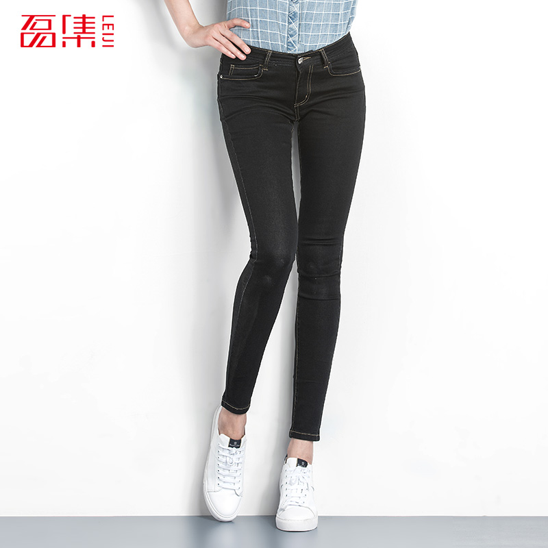 Fashion Autumn Style 40-120KG Available Plus Size Women Denim Mid Waist Elastic Full Length Casual Skinny Jeans Pencil Pants ripped skinny jeans woman autumn fashion mid waist elasticity plus size denim trousers full length pants jeans femme