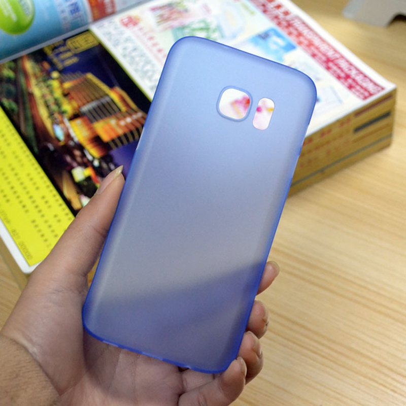 Matte Plastic Case Cover For Samsung Galaxy s6 s6 edge s7 s7 edge 0.3mm plastic transparent phone case for galaxy note 5 4 s5