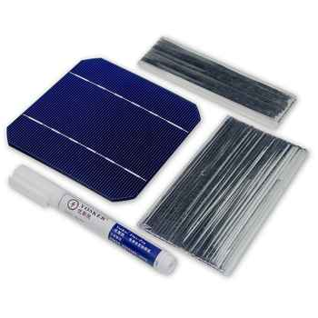 100W DIY Solar Panel Charger Kit 40Pcs Monocrystall Solar Cell 5x5 With 20M Tabbing Wire 2M Busbar Wire and 1Pcs Flux Pen - DISCOUNT ITEM  25 OFF Consumer Electronics