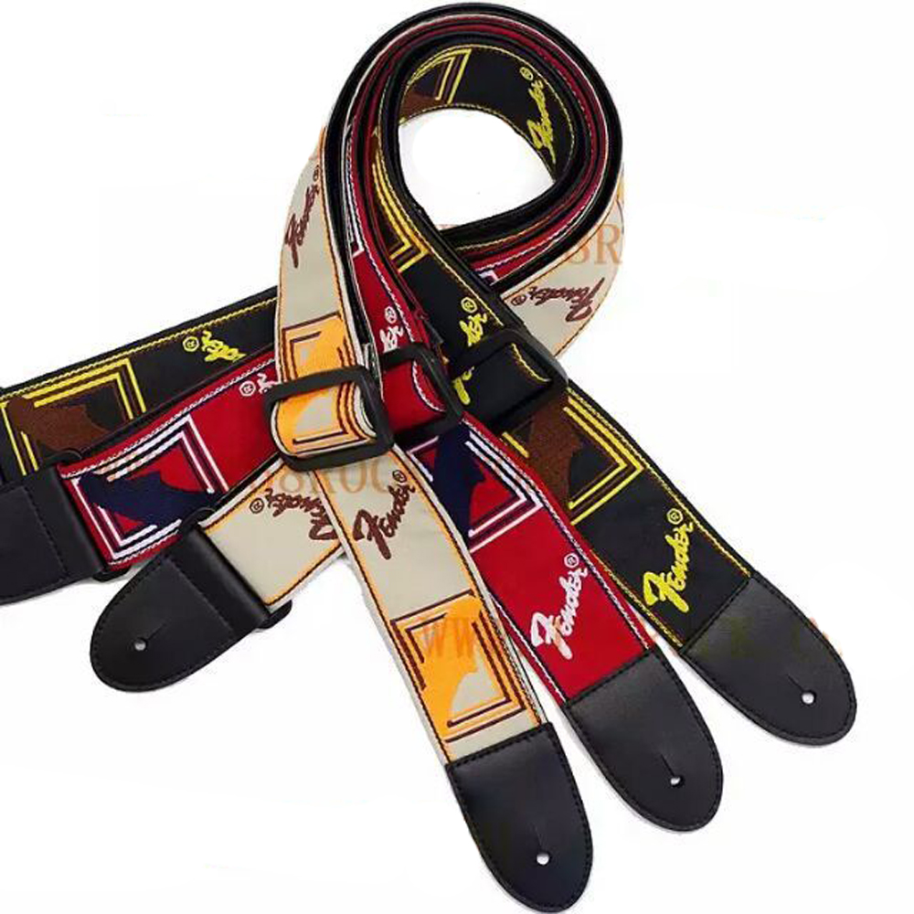 Classic Embroidery Electric Guitar Acoustic Guitar Folk Guitar Bass Strap